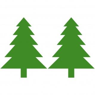 2 Aufkleber 8, 5cm Tannenbaum Tanne Baum Weihnachten Weihnachtsbaum Deko Folie