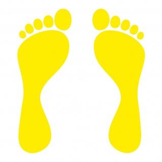 1 Paar 2 Füße 20cm gelb Fuß Abdruck Spur Aufkleber Auto Möbel Tattoo Deko Folie