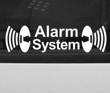2 Alarm System Hinweis Warnung Aufkleber Tattoo Folie Auto Fenster Schaufenster