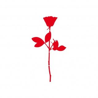 Rose 12cm rot Auto Tür Fenster Möbel Deko Folie Depeche Mode Aufkleber Tattoo