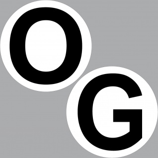 2 Aufkleber 20cm O + G Obergeschoss Sticker Aufzug Treppe Tür Etage Stockwerk