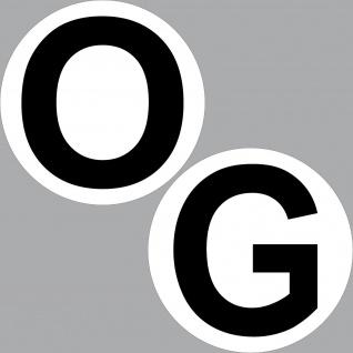 Set Aufkleber 20cm O + G Obergeschoss Sticker Aufzug Treppe Tür Etage Stockwerk