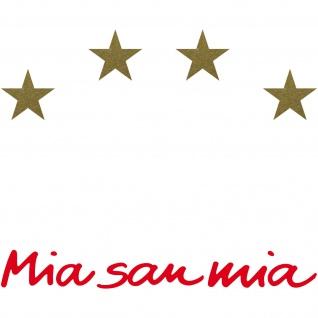 4 Sterne + Mia san mia Aufkleber Tattoo Schriftzug Auto Heck Deko Folie Fußball