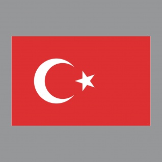Aufkleber 8, 5cm Sticker TUR Türkei Türkiye Flagge Fahne Fußball Fan EM WM Deko