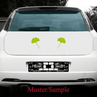 1 Paar 2 Blätter 15cm grün Ginkgo Blatt Aufkleber Tattoo Gingko 4061963037584 - Vorschau 4