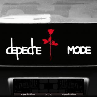 Exciter Schriftzug + 20cm Rose Aufkleber Set Tattoo Auto Deko Folie Depeche Mode