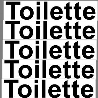 5 Aufkleber 20cm Toilette Sticker Hinweis Wegweiser WC BAD 00 Klo Tür Schild