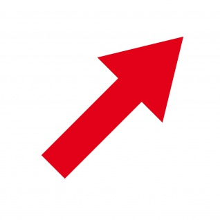Aufkleber Pfeil 10cm breit rot Tattoo Auto Tür Folie Weg Hinweis Lauf Richtung