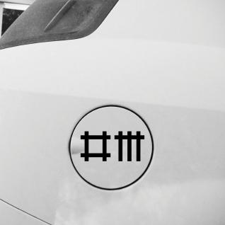 2 Aufkleber 9cm schwarz Stäbchen Symbol Tattoo Deko Auto Tür Folie Depeche Mode