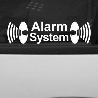 10 Stück Alarm System Aufkleber Tattoo Folie die cut gespiegelt für Innenseite