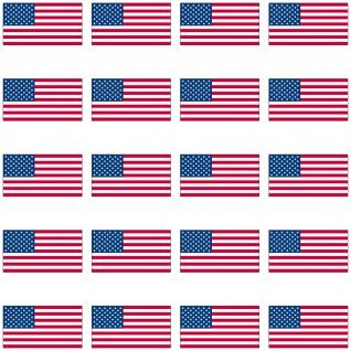 20 Aufkleber 2, 4cm USA US Amerika Länder Flagge Fahne Mini Sticker RC Modellbau - Vorschau 3