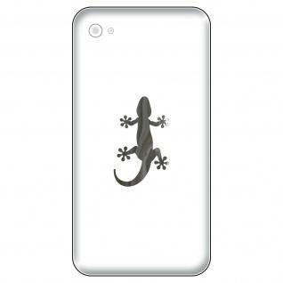 4 Aufkleber Tattoo 4cm chrom Gekko Gecko Echse Handy smartphone Deko Folie
