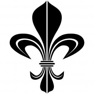 Bourbon Lilie 8cm schwarz Aufkleber Tattoo Fliesen Spiegel Glas Tür Auto Folie