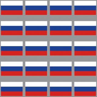20 Aufkleber 3cm Russland RU RUS Länder Fahne Flagge RC Modellbau Mini Sticker