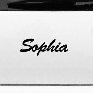 Sophia 21cm Kinderzimmer Name Aufkleber Tattoo Deko Folie Auto Fenster Schrank