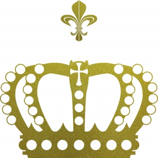 Krone mit Lilie 38cm gold Aufkleber Tattoo Deko Folie Auto Möbel Fenster Tür