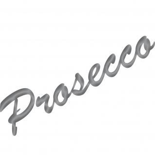 Prosecco 30cm silber Schriftzug Wandtattoo Aufkleber Tattoo Deko Folie Bar Küche