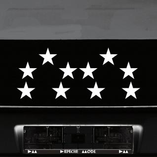 10 Klebesterne 8cm weiß WM Sterne Auto Fenster Aufkleber decal Tattoo Wandtattoo