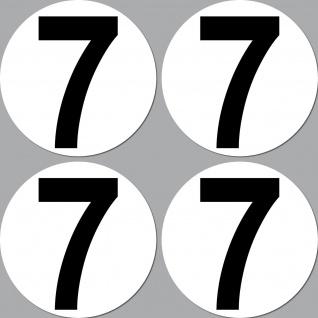 4 Aufkleber 15cm Start Nummer 7 Ziffer Zahl Auto Rennsport Racing Kart Gokart