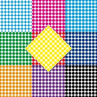 1000 Klebepunkte 12mm selbstklebend Punkt Aufkleber PVC Folie Etiketten Inventur