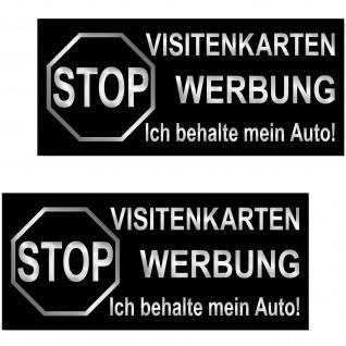 2 Aufkleber 6, 5cm Sticker STOP Visitenkarten Werbung ich behalte mein Auto