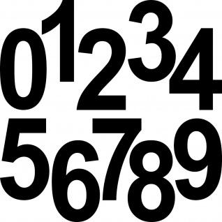 15cm schwarz Aufkleber Tattoo Haus Tür Kontainer Tor Nummer Ziffer Zahl wählbar