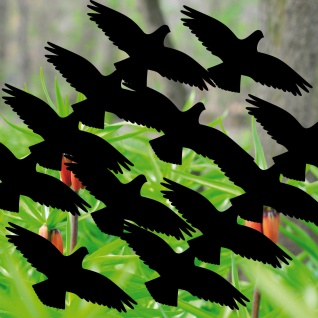 16 Vögel 10cm schwarz Aufkleber Tattoo Warnvogel Schutz Fenster Glas Scheibe