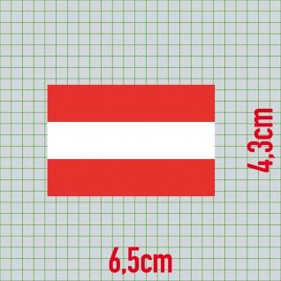 Aufkleber 6, 5cm Sticker A AT AUT Österreich Flagge Fahne Fußball EM WM Fan Deko - Vorschau 2
