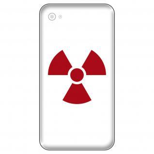 4 Aufkleber Tattoo 5cm dunkelrot Radioaktiv Symbol Logo Zeichen Handy Deko Folie