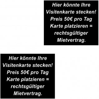 2 Aufkleber 8cm Sticker Stop Visitenkarten Werbung an Scheibe Auto Fenster Tür