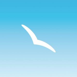 Aufkleber Schwalbe 10cm weiß Silhouette schmal dezent Warnvogel Fenster Glas