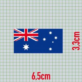 5 Aufkleber 6, 5cm Sticker AUS AU Australien Fußball Deko EM WM Flagge Fahne