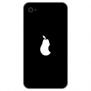 8 Aufkleber Tattoo 2, 7cm weiß Birne statt Apfel Apple verarsche Handy Deko Folie - Vorschau 1
