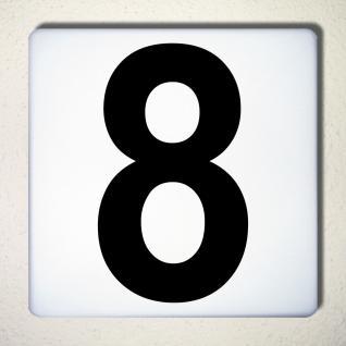 Ziffer 8 schwarz 18cm Aufkleber Tattoo Nummer Zahl Hausnummer Haus Tür Mülltonne