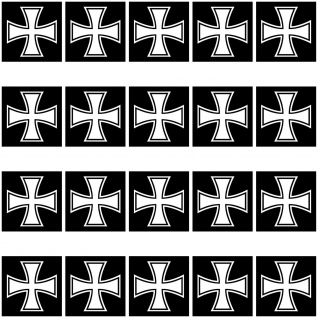 20 Aufkleber 2cm Eiserne Kreuz EK Großkreuz Symbol Modellbau Mini Sticker RC