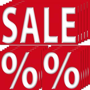 15 Aufkleber Set Sticker SALE 20cm + Prozent Zeichen 10cm Verkauf Aktion Hinweis