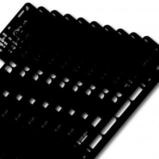 10 Stück Auto Kfz Pkw Kennzeichenhalter Nummernschildhalter Kennzeichen Halter