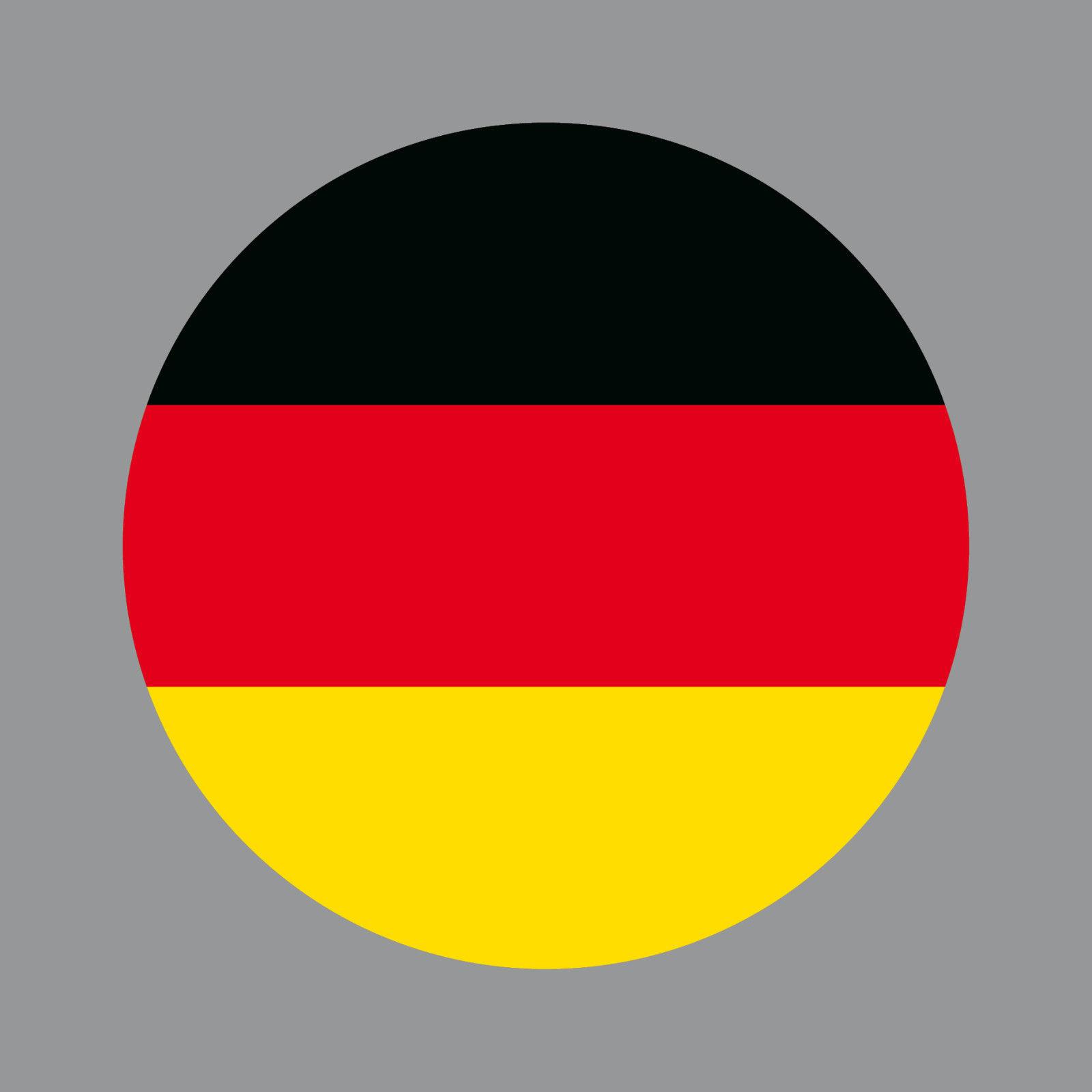Aufkleber 10cm Rund Sticker Brd Deutschland Flagge Fahne Fußball Fan