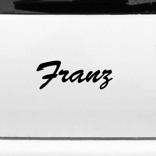Franz 20cm Kinderzimmer Name Aufkleber Tattoo Deko Folie Auto ...