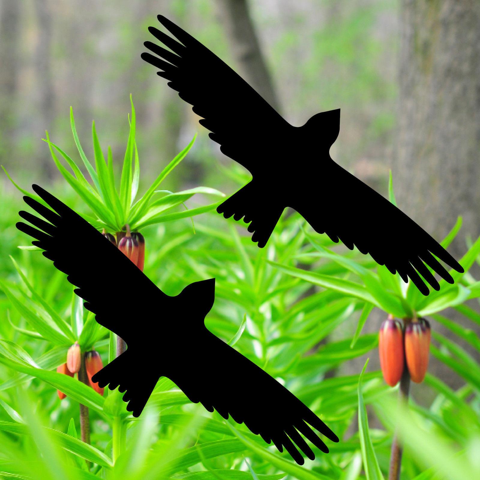 Warnvogel Aufkleber 30cm schwarz Milan Vogel Schreck Fenster Schutz Deko Folie