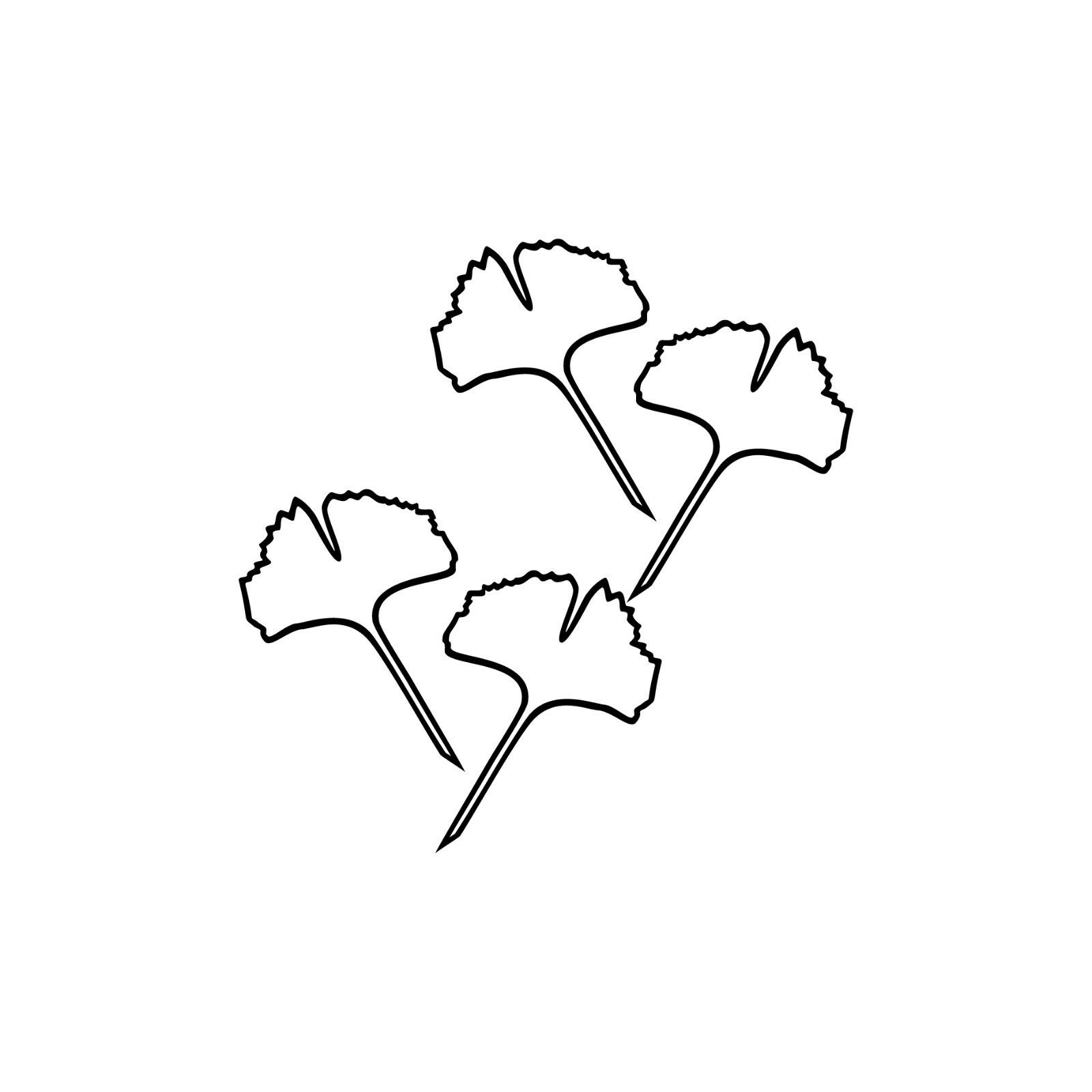 1 Paar 2 Blätter 10cm schwarz voll Ginkgo Blatt Aufkleber Tattoo Ginko Gingko