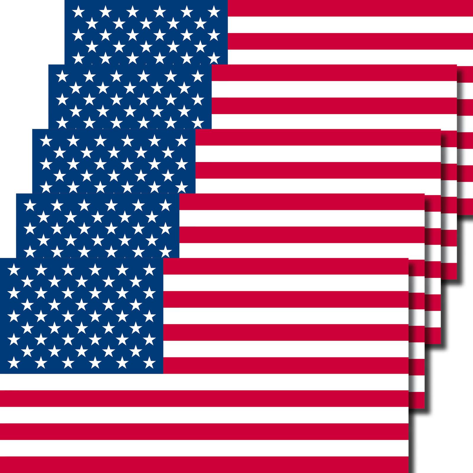 5 Aufkleber 6,5cm Sticker USA Amerika US Flag Fußball Fan EM WM Flagge Fahne