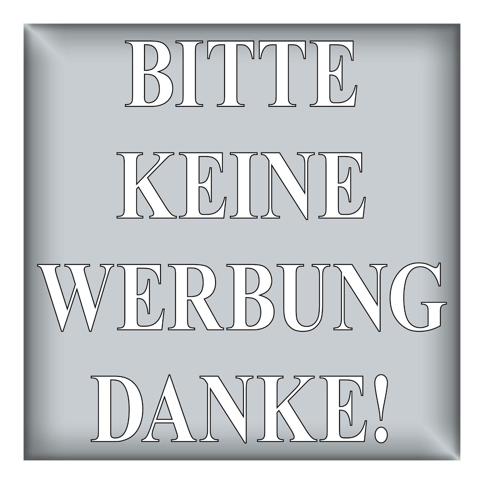 100 aufkleber sticker briefkasten bitte keine werbung danke 5cm x 5cm silber kaufen bei green it. Black Bedroom Furniture Sets. Home Design Ideas