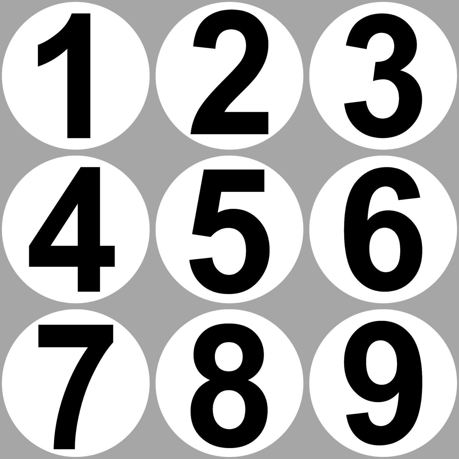 Set 9 Aufkleber 20cm Sticker 1 Bis 9 Start Nummer Zahlen Racing Motor Sport Auto