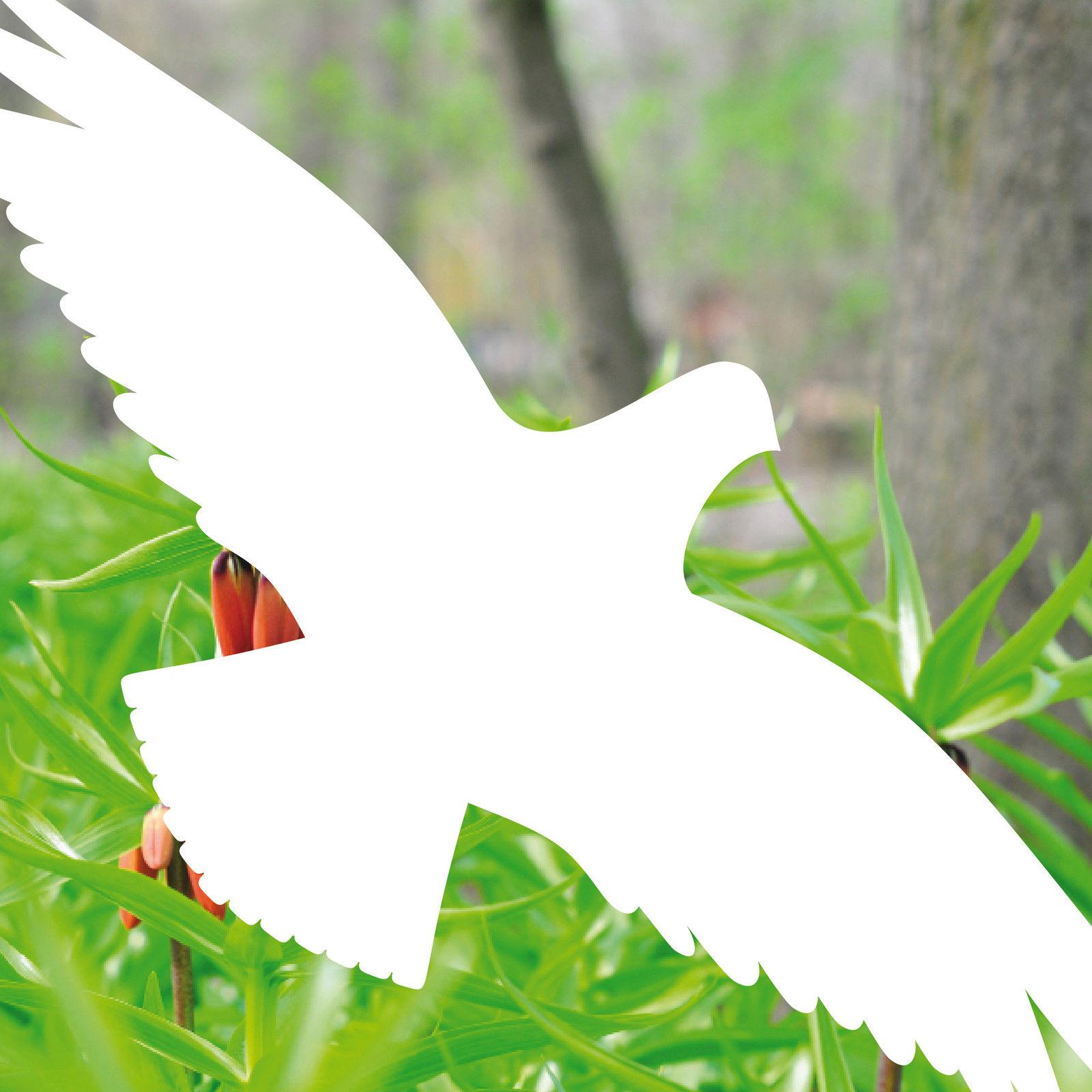 4 aufkleber 25cm wei vogel fenster glas scheibe fensterfolie vogelschutzfolie kaufen bei green it. Black Bedroom Furniture Sets. Home Design Ideas