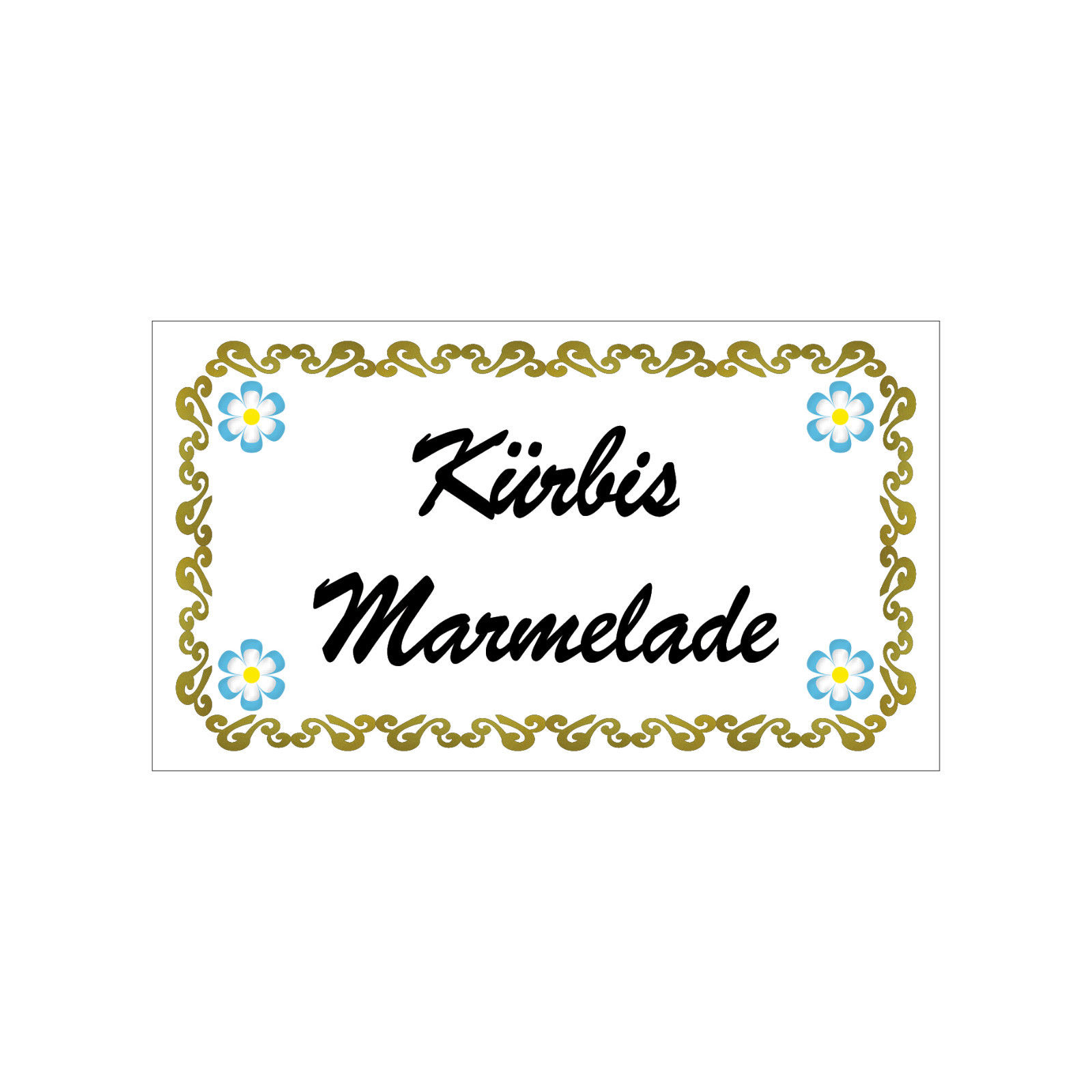 Kleine Aufkleber Sticker Etiketten Marmeladenglas Gläschen Glas Kürbis Marmelade