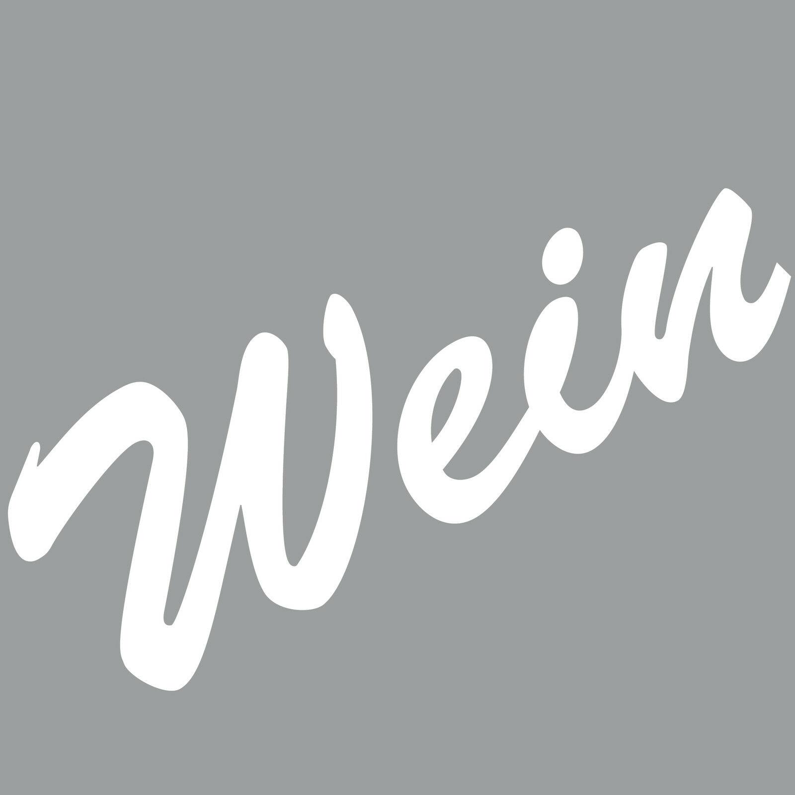 Wein 18cm Weiß Aufkleber Tattoo Deko Pvc Folie Schriftzug Kühlschrank Wandtattoo