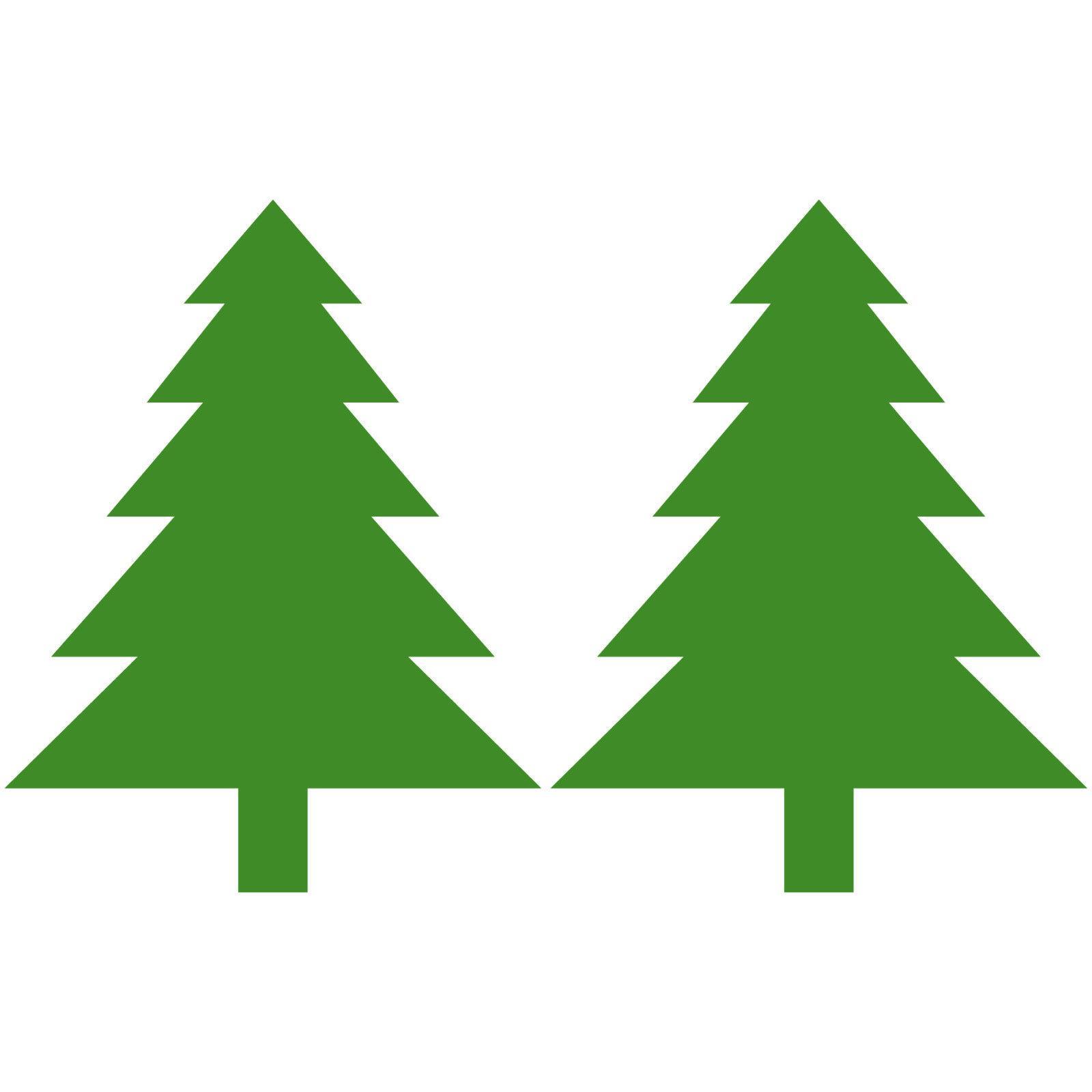2 Aufkleber 8 5cm Tannenbaum Tanne Baum Weihnachten