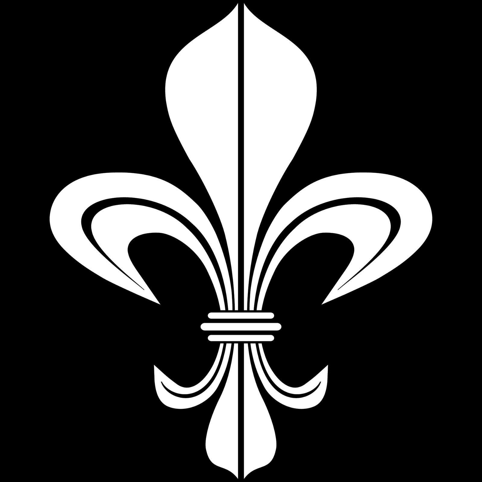 4 aufkleber tattoo 17cm wei bourbon lilie fleur de lis deko folie klebefolie kaufen bei green it. Black Bedroom Furniture Sets. Home Design Ideas