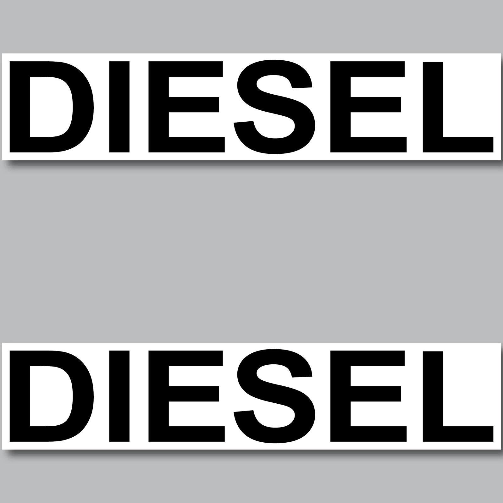 2 Aufkleber Diesel 20cm Sticker Hinweis Kraftstoff Tanken Kanister